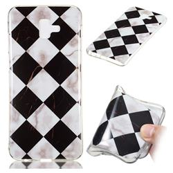 Black and White Matching Soft TPU Marble Pattern Phone Case for Samsung Galaxy J6 Plus / J6 Prime