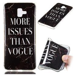 Stylish Black Soft TPU Marble Pattern Phone Case for Samsung Galaxy J6 Plus / J6 Prime