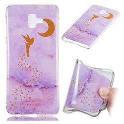 Elf Purple Soft TPU Marble Pattern Phone Case for Samsung Galaxy J6 Plus / J6 Prime