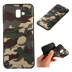 Camouflage Soft TPU Back Cover for Samsung Galaxy J6 Plus / J6 Prime - Gold Green