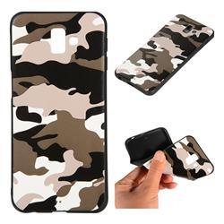 Camouflage Soft TPU Back Cover for Samsung Galaxy J6 Plus / J6 Prime - Black White