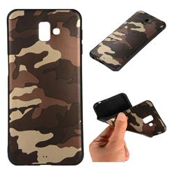 Camouflage Soft TPU Back Cover for Samsung Galaxy J6 Plus / J6 Prime - Gold Coffee