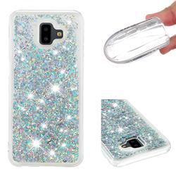 Dynamic Liquid Glitter Quicksand Sequins TPU Phone Case for Samsung Galaxy J6 Plus / J6 Prime - Silver