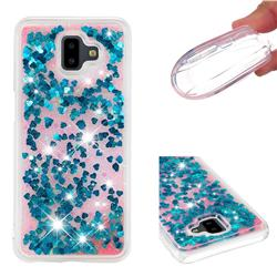 Dynamic Liquid Glitter Quicksand Sequins TPU Phone Case for Samsung Galaxy J6 Plus / J6 Prime - Blue
