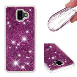 Dynamic Liquid Glitter Quicksand Sequins TPU Phone Case for Samsung Galaxy J6 Plus / J6 Prime - Purple