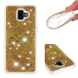 Dynamic Liquid Glitter Quicksand Sequins TPU Phone Case for Samsung Galaxy J6 Plus / J6 Prime - Golden