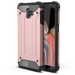 King Kong Armor Premium Shockproof Dual Layer Rugged Hard Cover for Samsung Galaxy J6 Plus / J6 Prime - Rose Gold