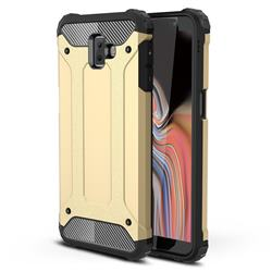 King Kong Armor Premium Shockproof Dual Layer Rugged Hard Cover for Samsung Galaxy J6 Plus / J6 Prime - Champagne Gold