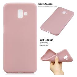 Soft Matte Silicone Phone Cover for Samsung Galaxy J6 Plus / J6 Prime - Lotus Color