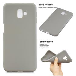 Soft Matte Silicone Phone Cover for Samsung Galaxy J6 Plus / J6 Prime - Gray