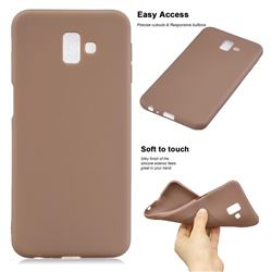 Soft Matte Silicone Phone Cover for Samsung Galaxy J6 Plus / J6 Prime - Khaki
