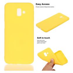Soft Matte Silicone Phone Cover for Samsung Galaxy J6 Plus / J6 Prime - Yellow