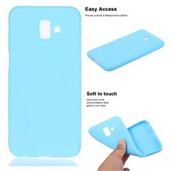Soft Matte Silicone Phone Cover for Samsung Galaxy J6 Plus / J6 Prime - Sky Blue