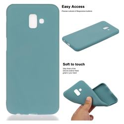 Soft Matte Silicone Phone Cover for Samsung Galaxy J6 Plus / J6 Prime - Lake Blue