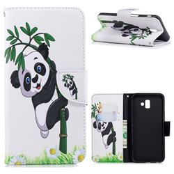 Bamboo Panda Leather Wallet Case for Samsung Galaxy J6 Plus / J6 Prime