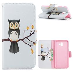 Owl on Tree Leather Wallet Case for Samsung Galaxy J6 Plus / J6 Prime