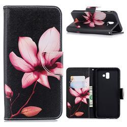 Lotus Flower Leather Wallet Case for Samsung Galaxy J6 Plus / J6 Prime