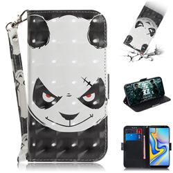 Angry Bear 3D Painted Leather Wallet Phone Case for Samsung Galaxy J6 Plus / J6 Prime