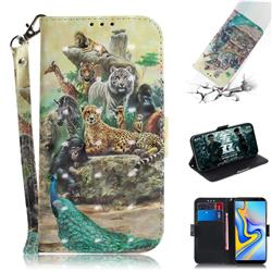 Beast Zoo 3D Painted Leather Wallet Phone Case for Samsung Galaxy J6 Plus / J6 Prime