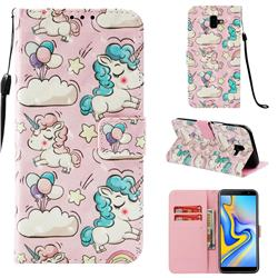 Angel Pony 3D Painted Leather Wallet Case for Samsung Galaxy J6 Plus / J6 Prime