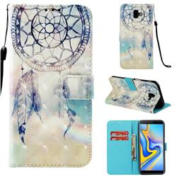 Fantasy Campanula 3D Painted Leather Wallet Case for Samsung Galaxy J6 Plus / J6 Prime