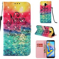 Colorful Dream Catcher 3D Painted Leather Wallet Case for Samsung Galaxy J6 Plus / J6 Prime