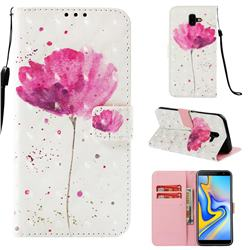 Watercolor 3D Painted Leather Wallet Case for Samsung Galaxy J6 Plus / J6 Prime