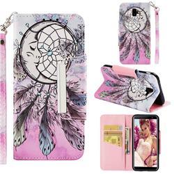Angel Monternet Big Metal Buckle PU Leather Wallet Phone Case for Samsung Galaxy J6 Plus / J6 Prime