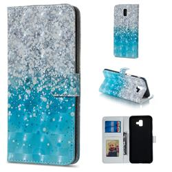 Sea Sand 3D Painted Leather Phone Wallet Case for Samsung Galaxy J6 Plus / J6 Prime