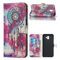 Butterfly Chimes PU Leather Wallet Case for Samsung Galaxy J6 Plus / J6 Prime