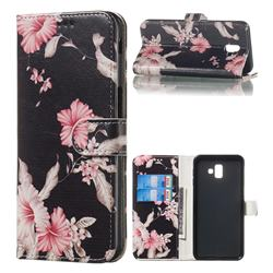Azalea Flower PU Leather Wallet Case for Samsung Galaxy J6 Plus / J6 Prime