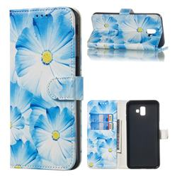 Orchid Flower PU Leather Wallet Case for Samsung Galaxy J6 Plus / J6 Prime