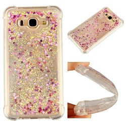 Dynamic Liquid Glitter Sand Quicksand Star TPU Case for Samsung Galaxy J7 2015 J700 - Rose