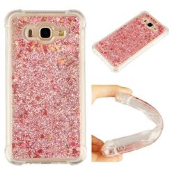 Dynamic Liquid Glitter Sand Quicksand Star TPU Case for Samsung Galaxy J7 2015 J700 - Diamond Rose