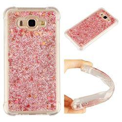 Dynamic Liquid Glitter Sand Quicksand Star TPU Case for Samsung Galaxy J7 2015 J700 - Diamond Rose