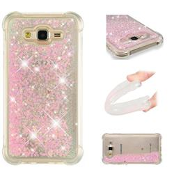 Dynamic Liquid Glitter Sand Quicksand TPU Case for Samsung Galaxy J7 2015 J700 - Silver Powder Star