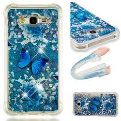 Flower Butterfly Dynamic Liquid Glitter Sand Quicksand Star TPU Case for Samsung Galaxy J7 2015 J700