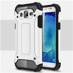 King Kong Armor Premium Shockproof Dual Layer Rugged Hard Cover for Samsung Galaxy J7 2015 J700 - White