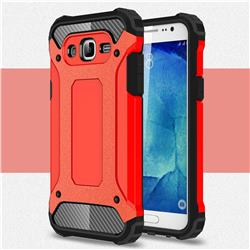 King Kong Armor Premium Shockproof Dual Layer Rugged Hard Cover for Samsung Galaxy J7 2015 J700 - Big Red