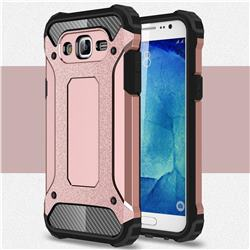 King Kong Armor Premium Shockproof Dual Layer Rugged Hard Cover for Samsung Galaxy J7 2015 J700 - Rose Gold