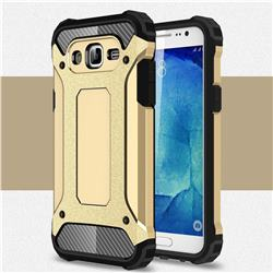 King Kong Armor Premium Shockproof Dual Layer Rugged Hard Cover for Samsung Galaxy J7 2015 J700 - Champagne Gold