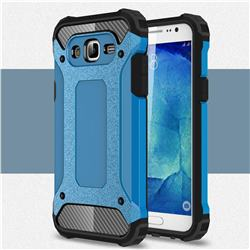 King Kong Armor Premium Shockproof Dual Layer Rugged Hard Cover for Samsung Galaxy J7 2015 J700 - Sky Blue