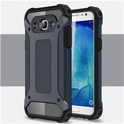 King Kong Armor Premium Shockproof Dual Layer Rugged Hard Cover for Samsung Galaxy J7 2015 J700 - Navy