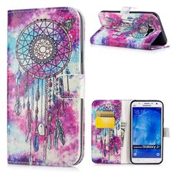 Butterfly Chimes PU Leather Wallet Case for Samsung Galaxy J7 2015 J700
