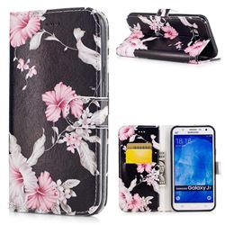 Azalea Flower PU Leather Wallet Case for Samsung Galaxy J7 2015 J700