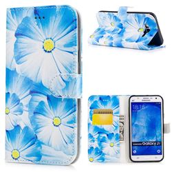 Orchid Flower PU Leather Wallet Case for Samsung Galaxy J7 2015 J700
