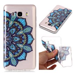 Peacock flower Super Clear Soft TPU Back Cover for Samsung Galaxy J7 2016 J710