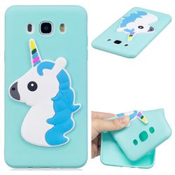 Blue Hair Unicorn Soft 3D Silicone Case for Samsung Galaxy J7 2016 J710