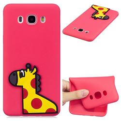 Yellow Giraffe Soft 3D Silicone Case for Samsung Galaxy J7 2016 J710