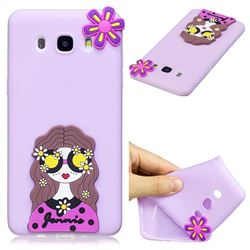 Violet Girl Soft 3D Silicone Case for Samsung Galaxy J7 2016 J710